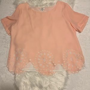 6 for $20 Cato Light Pink Top Womens XL